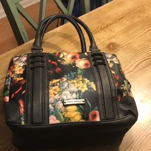 Steve Madden Floral Shoulder Bag Faux Leather